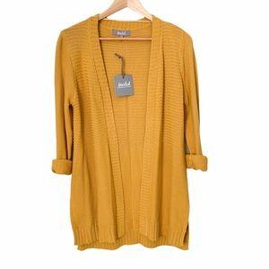 Marled Reunited Clothing Mustard Cardigan